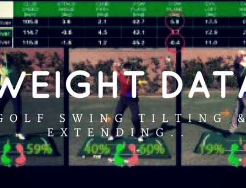 Golf Swing Side Tilting and Extending | Weight & Pressure Data