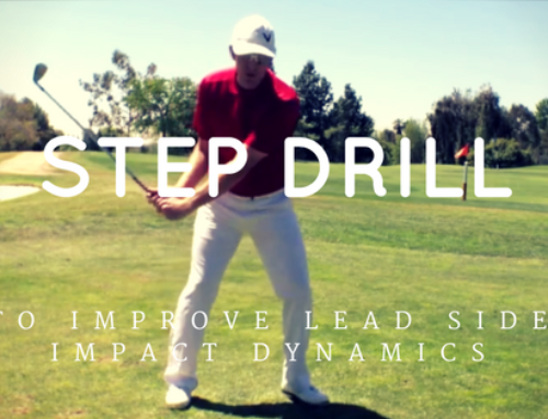 Step Drill To Improve Lead Side Impact Dynamics